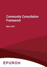 Community Consultation Framework