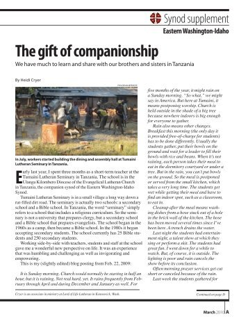 The gift of companionship