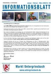 Informationsblatt I 2008 - Markt Untergriesbach Homeseite ...