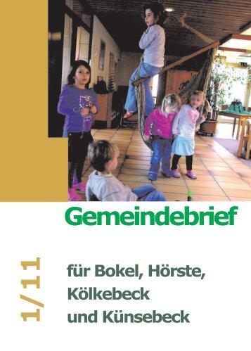 Kalender Bokel/Hörste/Kölkebeck - Ev.-Luth. Kirchengemeinde ...