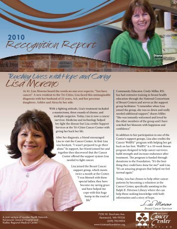 Recognition Report Lisa Moreno
