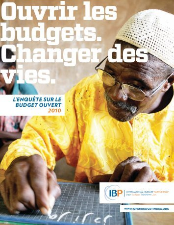 l'enquête sur le budget ouvert 2010 - International Budget Partnership