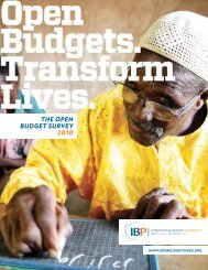 THe Open BudgeT survey 2010 - International Budget Partnership