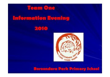 Team One Information Evening 2010