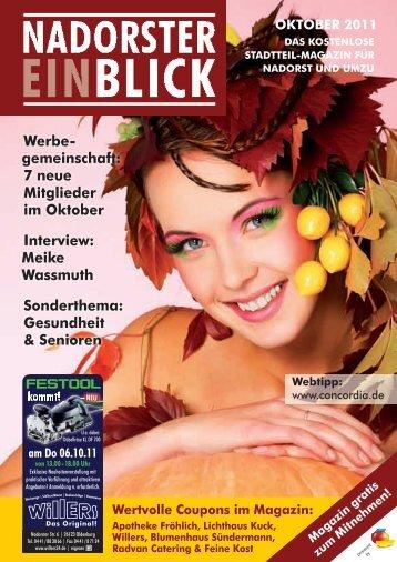 oKtoBer 2011 - Nadorster Einblick