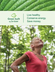 Live healthy. Conserve energy. Save money. - Del Webb