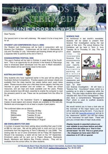 JUNE 2008 NEWSLETTER