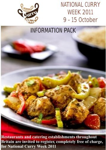 NATIONAL CURRY WEEK 2011 9 - 15 October INFORMATION PACK