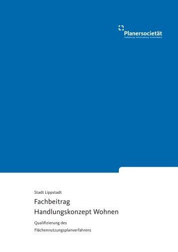 Fachbeitrag Handlungskonzept Wohnen - Lippstadt