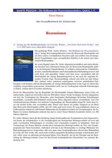 Rezensionen - Tisani Verlag