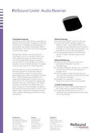 (Zuletzt aktualisiert 04.09.2012) Datenblätter - ReSound