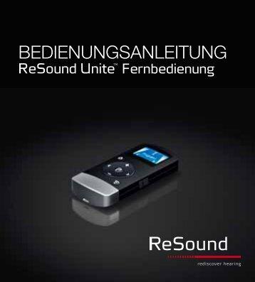 ReSound Unite Fernbedienung - Bedienungsanleitung (Zuletzt ...
