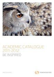 Academic Catalogue 2011-2012