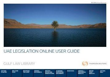 UAE LEGISLATION ONLINE USER GUIDE