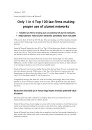 Only 1 in 4 Top 100 law firms making proper use of alumni networks