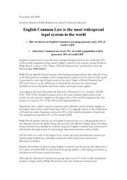 English Common Law is the most widespread legal system in the world