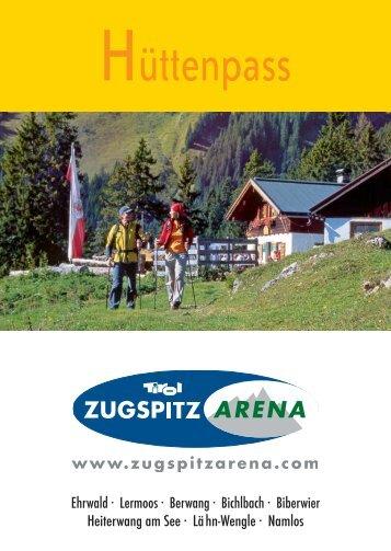 Hüttenpass 2012 - Tiroler Zugspitz Arena