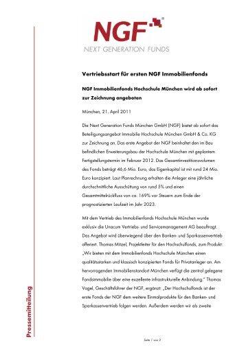 Presse mitteilung - NGF Next Generation Funds München GmbH