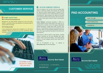 PAD ACCOUNTING