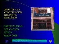 ESPECIALIDAD EDUCACIÓN FÍSICA Marzo 2008