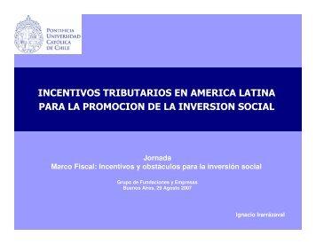 Incentivos tributarios en América Latina para la promoción de - gdfe