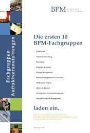 Die ersten 10 BPM-Fachgruppen - BPM - Bundesverband der ...