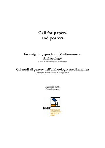 Call for papers and posters