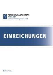 Einreichungen KMUs - BPM - Bundesverband der Personalmanager