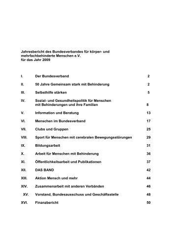 Jahresbericht 2009 - Bundesverband für körper