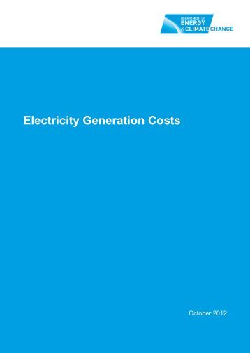 Electricity Generation Costs