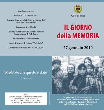 IL GIORNO della MEMORIA IL GIORNO della ... - Turismo Forlivese