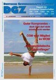 Guter Kompromiss – CGM wird Mitglied im WOW ...