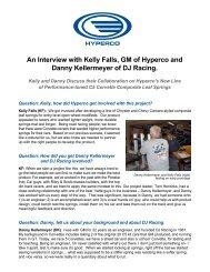 An Interview with Kelly Falls GM of Hyperco and Danny Kellermeyer of DJ Racing