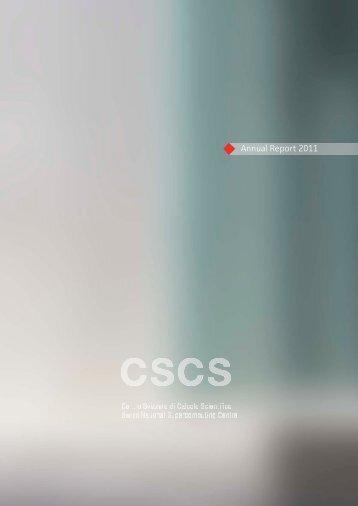 Annual Report 2011 - CSCS