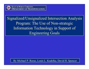 Signalized/Unsignalized Intersection Analysis Program: The Use of ...
