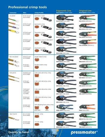 Professional crimp tools