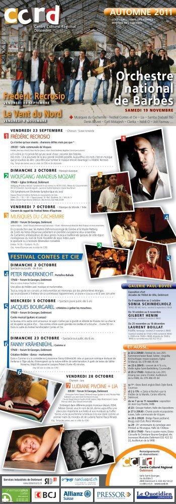 automne 2011 - Centre culturel régional de Delémont (CCRD)