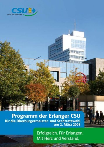 Wahlprogramm 2008-2014 - CSU