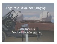 High resolution ccd imaging