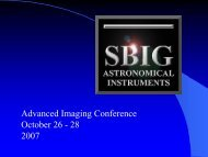 What's New- SBIG 1007 Update - Advanced Imaging Conference