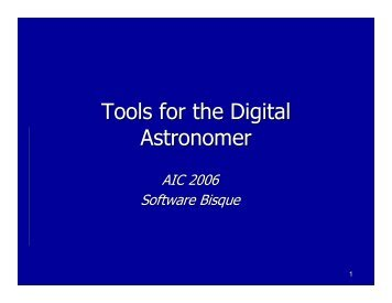 Tools for the Digital Astronomer