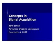 Concepts in Signal Acquisition
