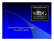 Advanced Imaging Conference November 2004