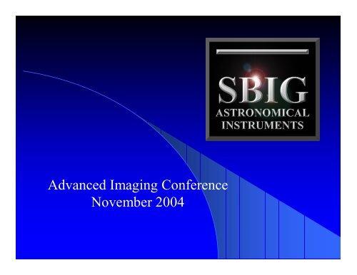 Advanced Imaging Conference November 2004