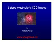 6 steps to get colorful CCD images