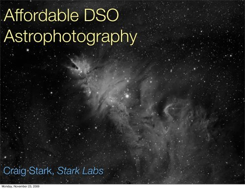 Affordable DSO Astrophotography