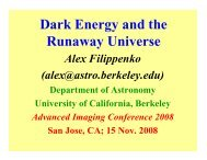 Dark Energy and the Runaway Universe - Advanced Imaging ...