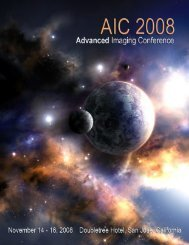 Advanced Imaging Conference November 14-16, 2008 San Jose ...