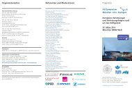 Programm Organisatorisches Referenten und Moderatoren