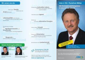 CSU Wahlinformation